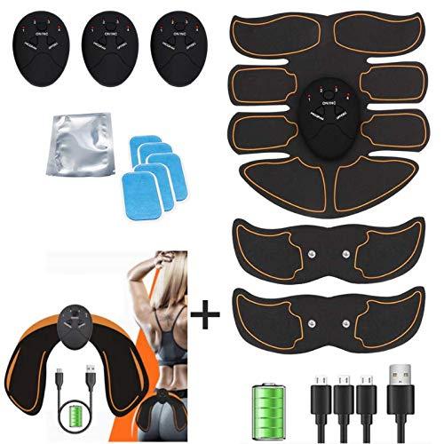 kames skoss prestige - Electroestimulador Muscular Abdominales, por Recarga de USB, Masculino Femenino, Keat Estimulador Brazo + Muslos + Piernas,Dispositivo Oficial ofrecido (USB)
