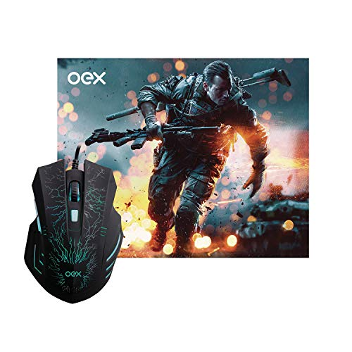 Mc101 Combo Stage (Mouse + Mousepad0), Oex, Mouses, Preto