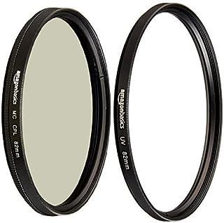 Amazon Basics Filtre polarisant circulaire - 82mm & Filtre de protection UV - 82mm