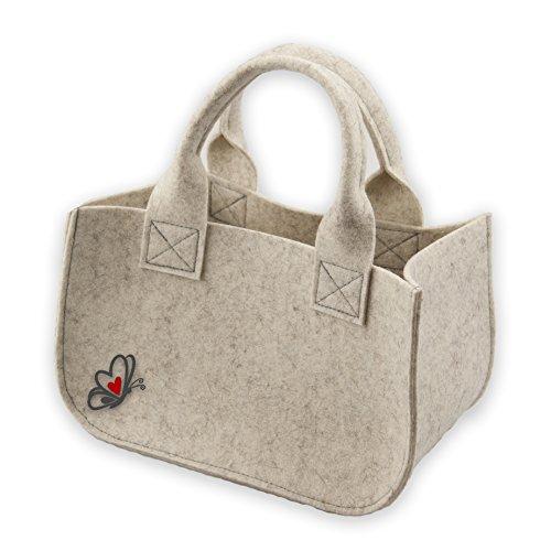 luvthings Geschenk Verpackung (Geschenkkörbchen) - Kleine Tasche aus 100% Wollfilz (Merinowolle)
