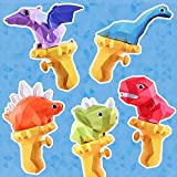 5PCS Cartoon Dinosaur Water Gun Toy, Water Guns Powerful Long Distance, Water Guns for Kids, Water Squirt Toy Pool Party Water Squirter for Outdoor Beach Yard, for Boys Girls and Adults
