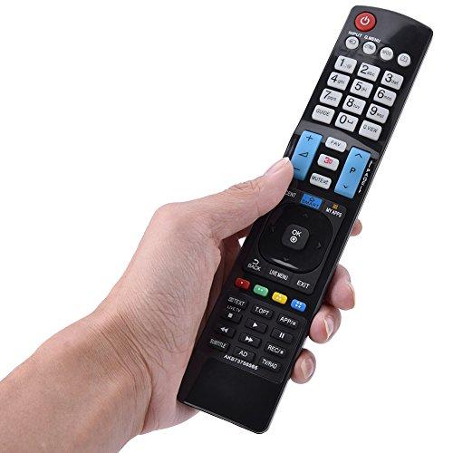 Socobeta Reemplazo Televisión Controlador Negro Control Remoto ABS Smart TV Control Remoto para LED LCD TV