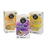 SEEDHEART DREIER-MIX - Superfood-Mix aus Saaten, Kernen und Beeren (Porridge) - 3 Packungen (3 x 250g) 1x APPLE & CINNAMON, 1x ACAI & WILDBERRY, 1x BANANA & CACAO - Bio, vegan, glutenfrei
