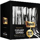 600 Plastic Silverware Set - Silver Plastic Cutlery Set - Disposable Silverware Set - Flatware Set -...