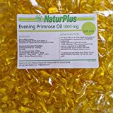 Evening Primrose Oil 1000 mg, Cold Pressed, Omega-6 GLA, 365 Softgel Capsules by NaturPlus