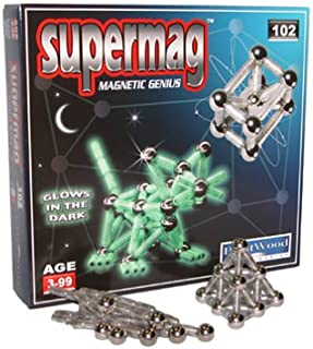 Supermag Magnetic Genius 102 pc Glow in the Dark Set