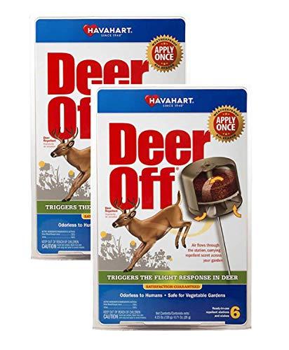 Havahart DO5600-B Deer Off Weatherproof Deer Repellent; Weatherproof; Odorless To Humans; Safe for Vegetable Gardens; Ready-To-Use; 6 Per Pack (Pack of 2)