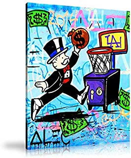 Zwhart HD Printed Oil Paintings Home Wall Decor Art on Canvas Alec Monopoly Slam Dunk 5size#130 (Unframed,24x32inch)