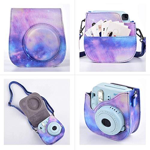 SAIKA Instant Camera Zubehör-Paket Kompatibel für Fujifilm Instax Mini 9 / Mini 8plus / Mini 8 Sofortbildfilmkamera Enthält Kameratasche, Album, Rahmen, Aufkleber, Trageriemen usw - Galaxia