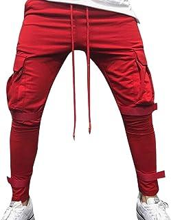 LISTHA Zipper Pocket Sports Pants Mens Personal Elastic Smallfoot Trousers
