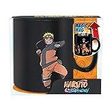 Naruto Shippuden – Tazza in ceramica con effetto termico da 460 ml – Naruto Attack & Logo – Confezione regalo