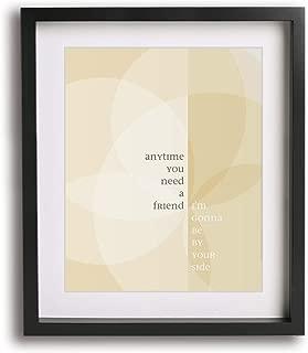 Overjoyed by Matchbox Twenty inspired song lyric art print