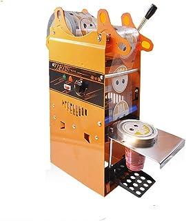 MXBAOHENGカップシール機カップシーラー 90/95MM カップの高さ:18CM以内に適用 手動カップシール機 デジタル制御 400-600カップ/時 お茶・コーヒー・ジュース タピオカミルクティー豆乳 など 業務用110Vオレンジ色