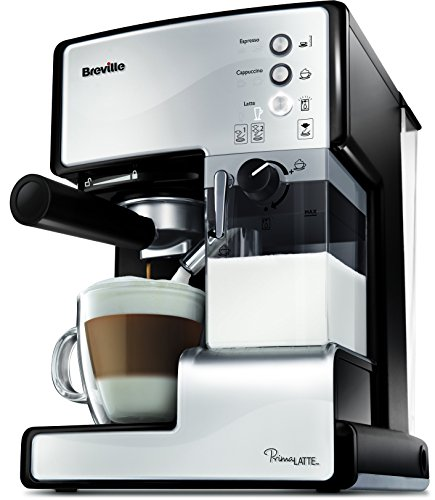 Breville VCF045X PrimaLATTE 3 in 1 Kaffeemaschine, 1.5 Liter, Weiß/Metallic