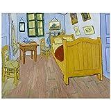 Legendarte Cuadro Lienzo, Impresión Digital - El Dormitorio En Arlés Vincent Van Gogh, cm. 80x100 - Decoración Pared