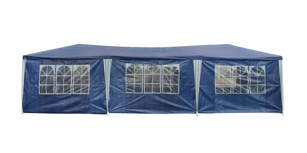 Carpa 9 x 3 m tienda de fiesta con 8 paredes laterales azul Jardín ...