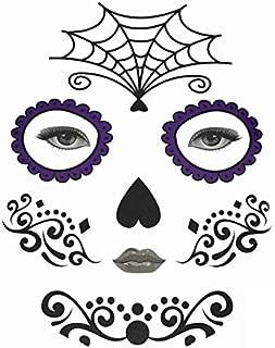 Halloween Temporary Face Art Waterproof Mask Sugar Skull Tattoo Beauty Sticker