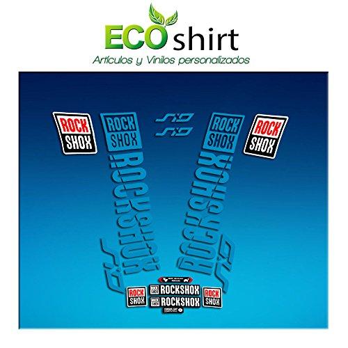 Ecoshirt DM-3GBX-M8N4 Aufkleber Fork Rock Shox SID 2018 Am179 Aufkleber Sticker Gabel Blau