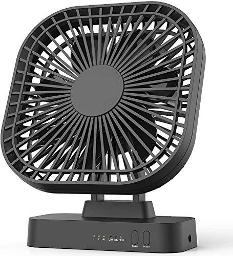 EasyAcc Ventilador de mano 3350 mAh USB ventilador mini ventilador portátil eléctrico 17 H - Batería recargable plegable compatible con ordenador portátil Multi Port enchufe para viajes y hogar negro