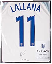 Adam Lallana Official England Back Autographed Signed 2016-17 Home Shirt - Certified Authentic Soccer Signature
