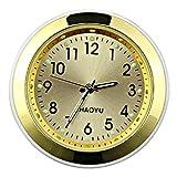 DMFSHI Reloj de Coche, 1 Pieza Ventilador para Coche Reloj, Reloj de Coche Redondo de Alta Precisión Reloj de Cuarzo Luminoso de Bolsillo Universal para Coche, Barco, Hogar (Oro, 38 mm)