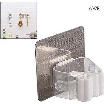 Cocina,6 Piezas Meiyijia Ganchos Adhesivos Autoadhesivo Perchero de 304 Acero Inoxidable Colgadores de Puerta Organizador para Ba/ño