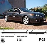 Spangenberg Seitenschutzleisten schwarz für Honda Accord VIII Limousine 8. Generation Baujahr 2008-2011 F23 (3700023)
