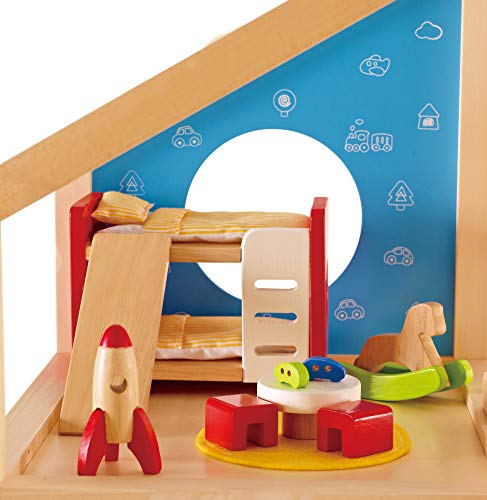 Hape E3456 Children's Room - Wooden Dolls House Accessories