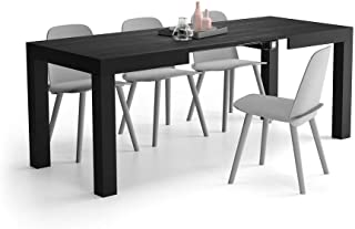 Mobili Fiver, Table Extensible Cuisine, First, Frêne Noir, 120 x 80 x 76 cm, Made in Italy