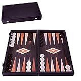 Manopoulos 'Wenge' Backgammon Set - 48x26 cm - Luxus Backgammon Aus Holz -
