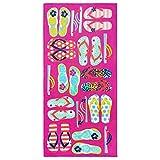 Kaufman - FLIP Flops 28'' X 60'' Pink Kids Beach and Pool Towel...
