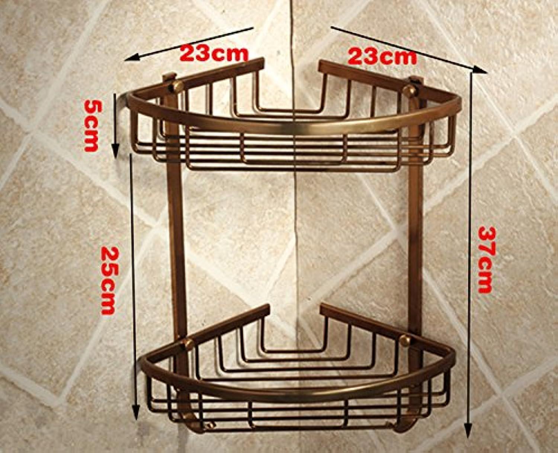 Bathroom corner shelf triangle shelf storage basket European antique bathroom shelves bathroom shelf
