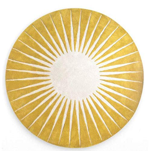 Alfombra redonda amarilla para sala - 120cm