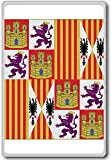 Catholic Monarchs (1475-1492), Historic Flags of Spain fridge magnet - Calamita da frigo