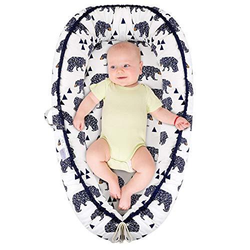 Miracle Baby Reducteur de Lit Cocon de Bébé Babynest pour Nouveau-né(Ours)