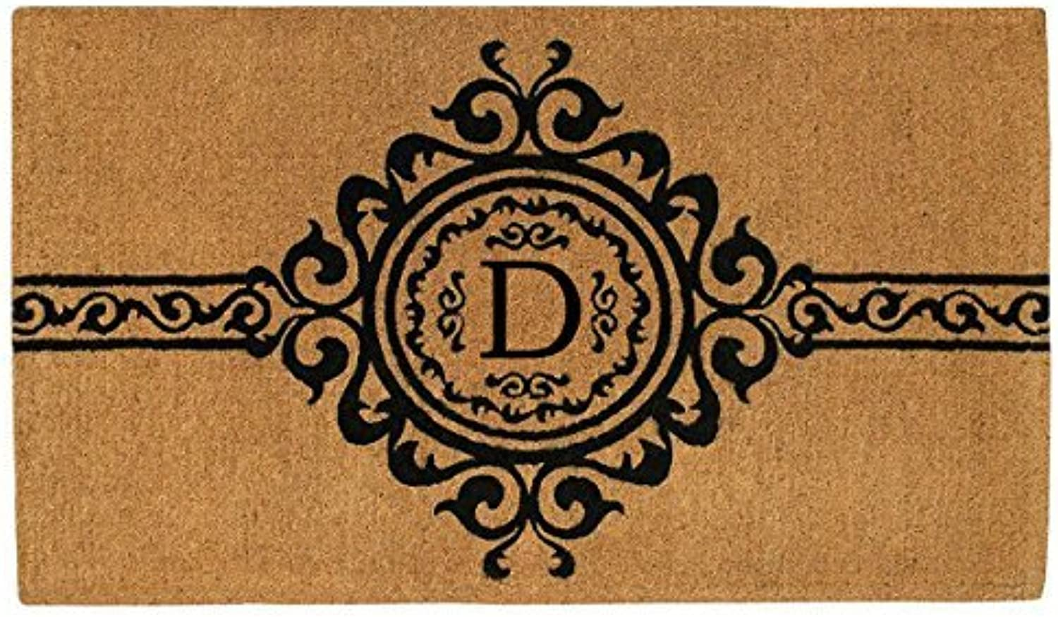 Home & More 180072436D Garbo 2' X 3' Extra-thick Monogrammed Doormat (Letter D)