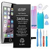 GLOBAL GOLDEN Batería para iPhone 6s Plus 3400mAh de Alta Capacidad Batería y con Kits de Herramientas de reparación, Cinta Adhesiva, Protector de Pantalla