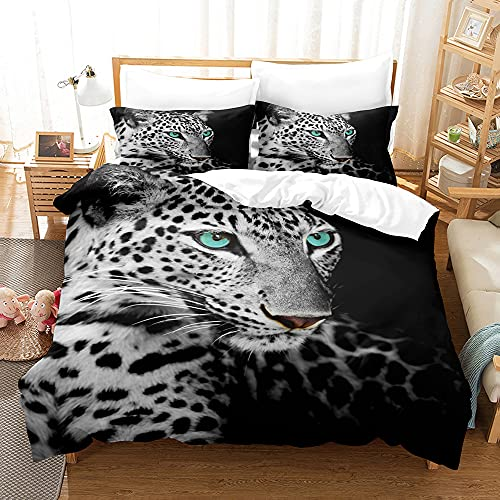 Sticker Superb. Boy Youth Man Animal Leopard Forest Horse Bedding Set Dorm Decoration, Sea Animal Dolphin Blue Ocean Duvet Cover with Matching 50x75cm Pillowcase Easy Care (Multi 3,King 220_x_240cm)