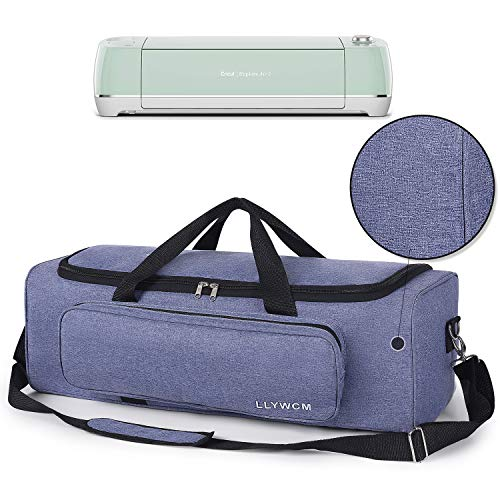 LLYWCM Lightweight Carrying Bag Compatible with Cricut Explore Air, Cricut Maker and Cricut Explore Air 2, Foldable Travel Tote Case for Die-Cut Machines Accessories and Supplies (Purple)