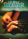 Rubin Dave 12-Bar Fingerstyle Blues Agtr Or Egtr Tab Book/Cd