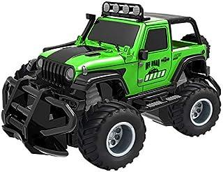 Pandao Coche de Juguete RC Car Mini Control Remoto Coche Vehículo Radio RC SUV Coche Drift Racing Car 1:43 Vehículo Todoterreno de Alta Velocidad Jeep Coche Juguetes para niños Verde
