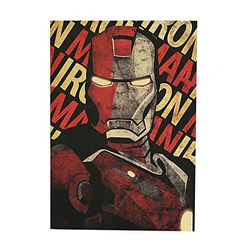 ALTcompluser Poster del Film con Motivo retrò Decorazione murale Celebrità Poster murale Vintage Poster di Piccolo Formato per Decorazione murale (Ironman)