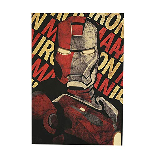 ALTcompluser Retro Motiv Film Poster Promi Wanddekoration Vintage Wandbild Kleinformat Plakat für Wandgestaltung(Ironman)
