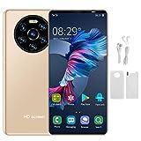 Smartphones Desbloqueados, Mate40 Pro 5.45'' Celulares Desbloqueados con Huella Dactilar, 1GB RAM + 8GB ROM, 2MP + 5MP, Teléfono Movil Libres Baratos 3G, Desbloqueo Facial, Batería 2200mAh (Oro)