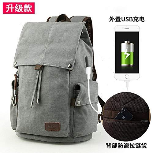 Rucksack Canvas Tasche Reiserucksack Umhängetasche Herrentasche Schultasche Großraum Computer Tasche Trend Reisetasche 8