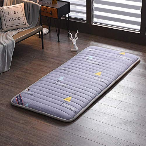 JY&WIN Japanese Tatami Mattress,Foldable Warm Double Single Japanese Sleeping Pad Harder Futon Floor Mattress Quilted Anti-slip Thick 2inch-c King