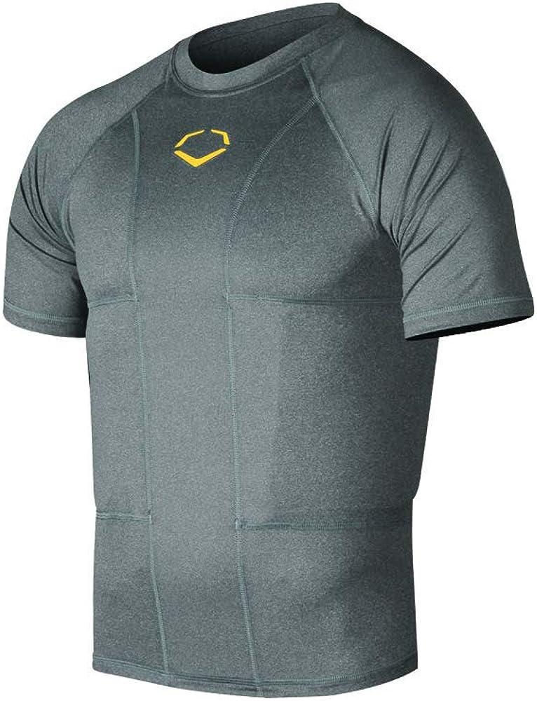 EvoShield Adult Performance Rib Shirt, Charcoal - Medium : Sports & Outdoors