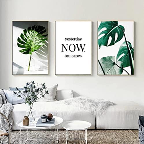 Lienzo pared Art Planta Hoja Fresca Cuadros Impresión de Imagen Artística Digitalizada...
