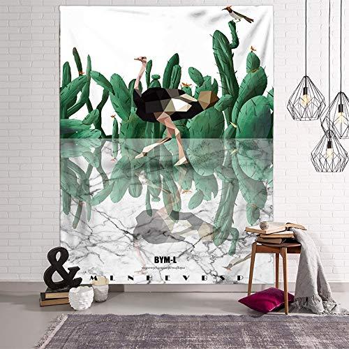 WERT Tapices de Paisaje Toalla de Playa 3D Hojas Verdes Hermoso Bosque Impresión de Pared Alfombra Estera de Yoga Decoración para el hogar Tapiz A20 200x150cm