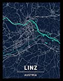 Linz Austria: city map; dot grid notebook with map on the cover, gift for travel lovers, souvenir